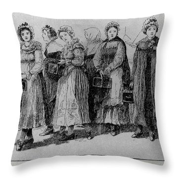 Filles A La Cassette Throw Pillow