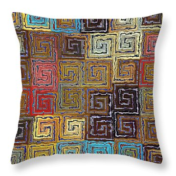 Filling The Space Throw Pillow by Kim Redd