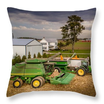 Filling Up And Emptying Out Throw Pillow