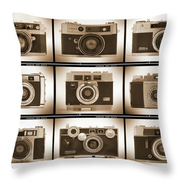 Film Camera Proofs 2 Throw Pillow by Mike McGlothlen
