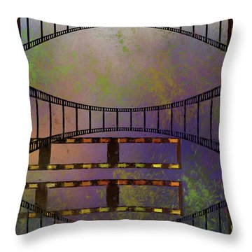 Throw Pillow featuring the mixed media Film Is Dead by Jim  Hatch