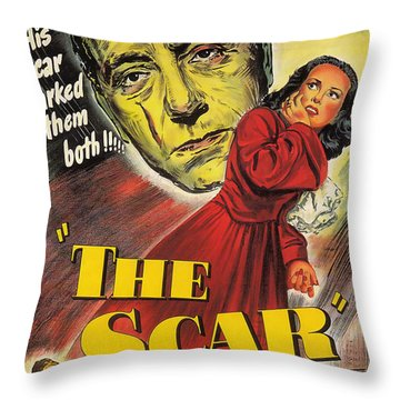 Film Noir Poster  The Scar Throw Pillow