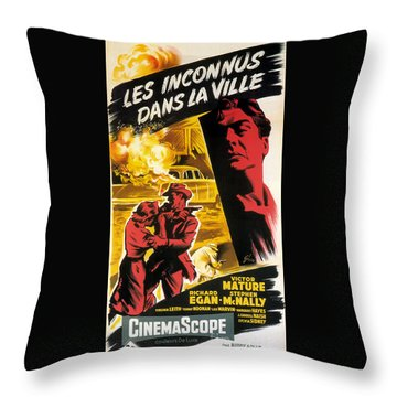Film Noir Poster   Violent Saturday Throw Pillow