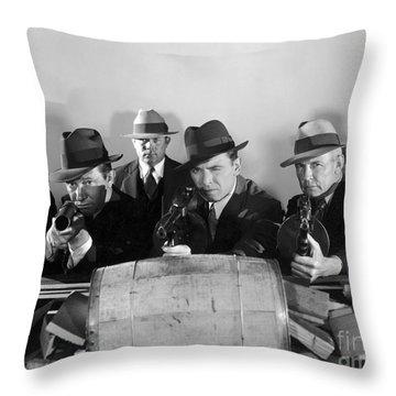 Film Still: Gangsters Throw Pillow by Granger