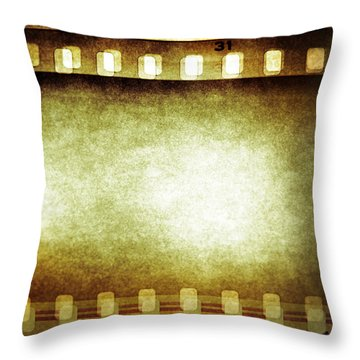 Filmstrip Throw Pillow
