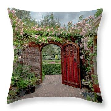 Filoli Garden Entrance Throw Pillow