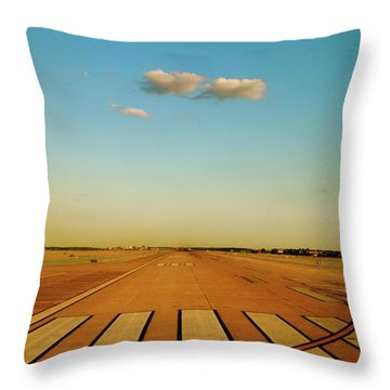 Final Approach Throw Pillow