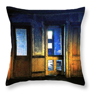 Throw Pillow featuring the digital art Final Days - Choices by Stuart Turnbull