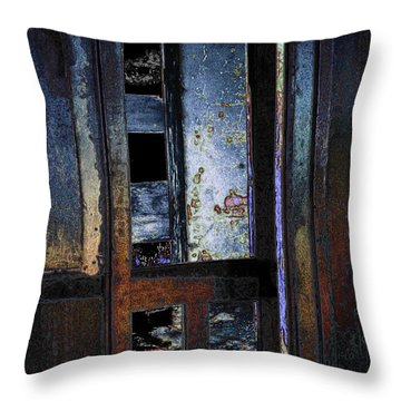 Throw Pillow featuring the digital art Final Days - Past Meets Present by Stuart Turnbull