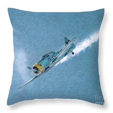 Final Dive World War Two Airplane  Throw Pillow by Randy Steele