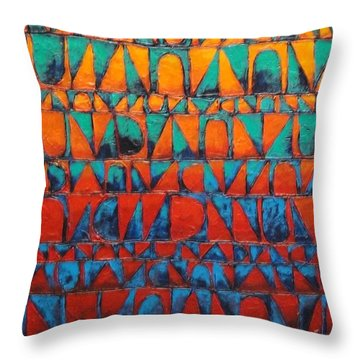 Throw Pillow featuring the painting Final Regatta by Bernard Goodman