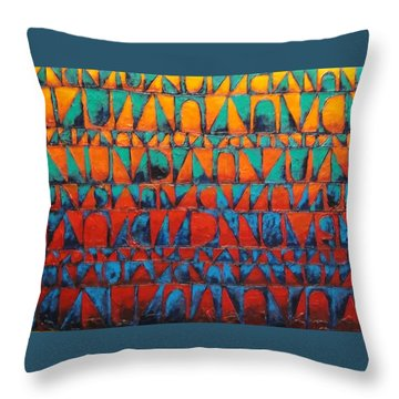 Final Regatta Throw Pillow