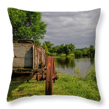 Final Stop Throw Pillow by Alana Thrower