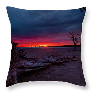 Final Sunset Throw Pillow