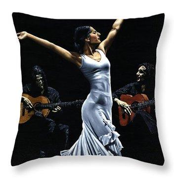 Finale Del Funcionamiento Del Flamenco Throw Pillow