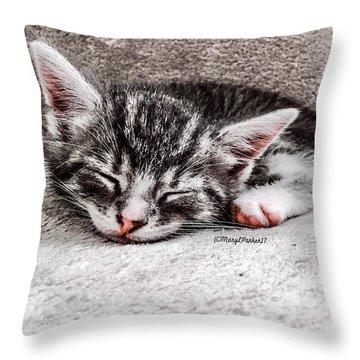 Finally Asleep  Copyright Mary Lee Parker 17  Throw Pillow