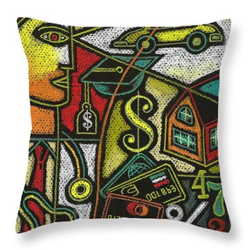 Finance And Medical Career Throw Pillow by Leon Zernitsky