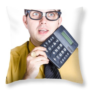 Accountancy Throw Pillows