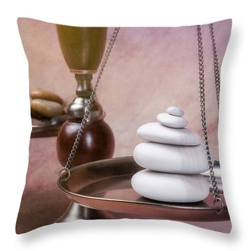 Find Your Balance Throw Pillow