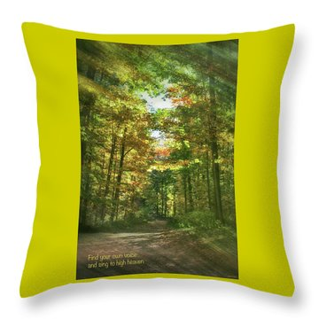 Find Your Own Voice Throw Pillow