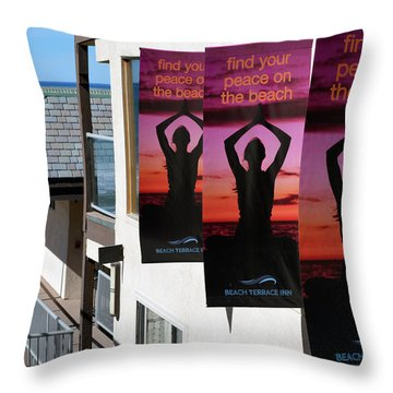Throw Pillow featuring the photograph Find Your Peace by Bill Dutting