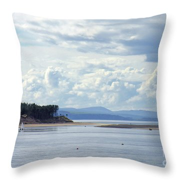 Findhorn Bay - Moray Firth Throw Pillow