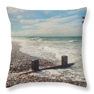 Findhorn Coast Throw Pillow