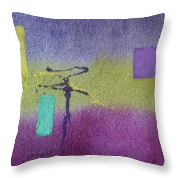 Finding Balance Throw Pillow by Becky Chappell