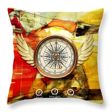 Throw Pillow featuring the mixed media Finding Direction by Marvin Blaine