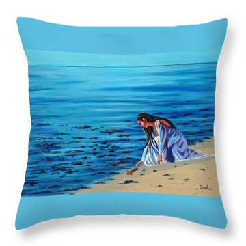 Finding Faith Throw Pillow