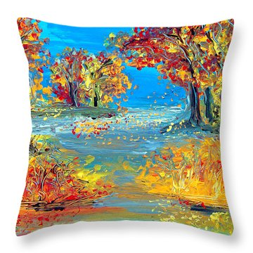 Finding Father Throw Pillow