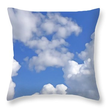 Throw Pillow featuring the digital art Finding Focus Sky by Francesca Mackenney