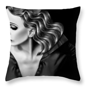 Finding My Light In The Darkness - Self Portrait Throw Pillow
