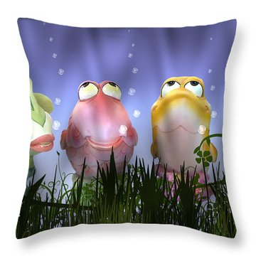Finding Nemo Figurine Characters Throw Pillow by Brian Wallace