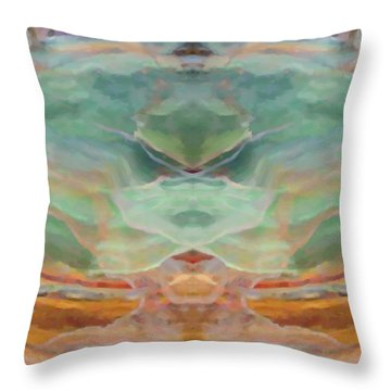 Finding Peace Throw Pillow by Ann Tracy
