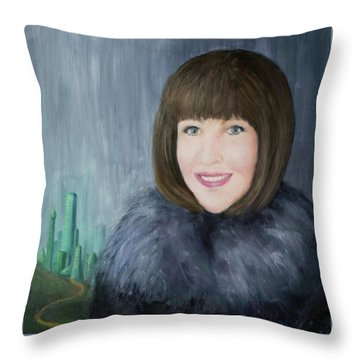 Finding The Emerald City Throw Pillow