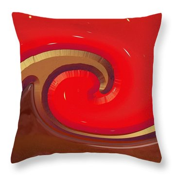Throw Pillow featuring the digital art Finding Water On Mars by Wendy J St Christopher