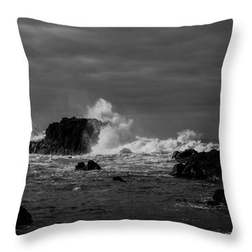 Throw Pillow featuring the photograph Fine Art Back And White245 by Joseph Amaral