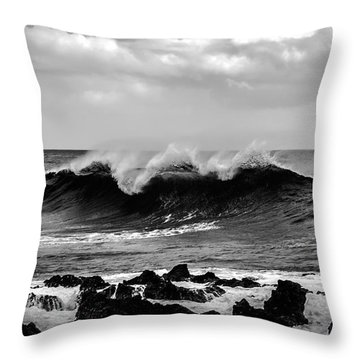 Throw Pillow featuring the photograph Fine Art Black And White-196 by Joseph Amaral