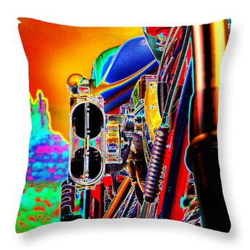 Fine Art Chopper I Throw Pillow by Mike McGlothlen