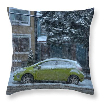 Throw Pillow featuring the photograph Winter-2014 by Joseph Amaral