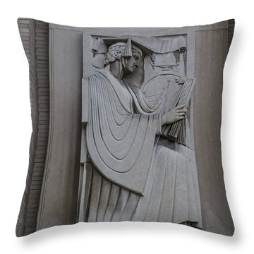 Fine Art Library Penn State  Throw Pillow by John McGraw