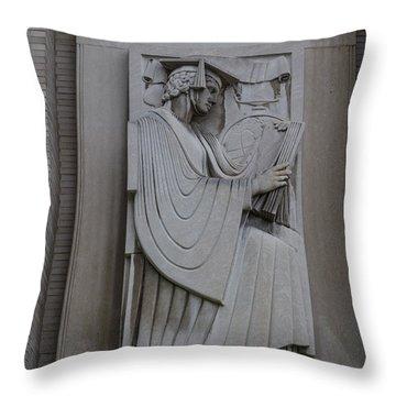 Fine Art Library Penn State  Throw Pillow