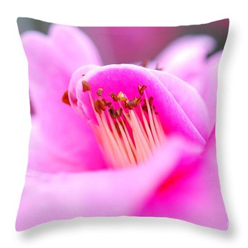Fine Art- Pink Camellia Throw Pillow