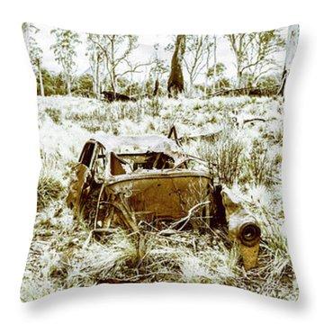 Car Wreck Throw Pillows