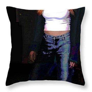 Fine Art Traditional Modern Original Digital Art Work Eva Throw Pillow