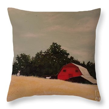Fine August Day Throw Pillow by Carla Dabney