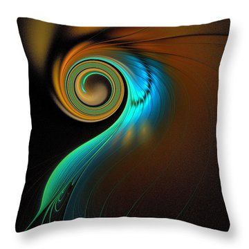 Fine Feathers Throw Pillow by Amanda Moore
