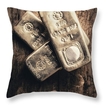 Fine Silver 999 Throw Pillow