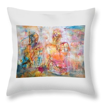 Fine Time With Hue Throw Pillow by Gail Butters Cohen